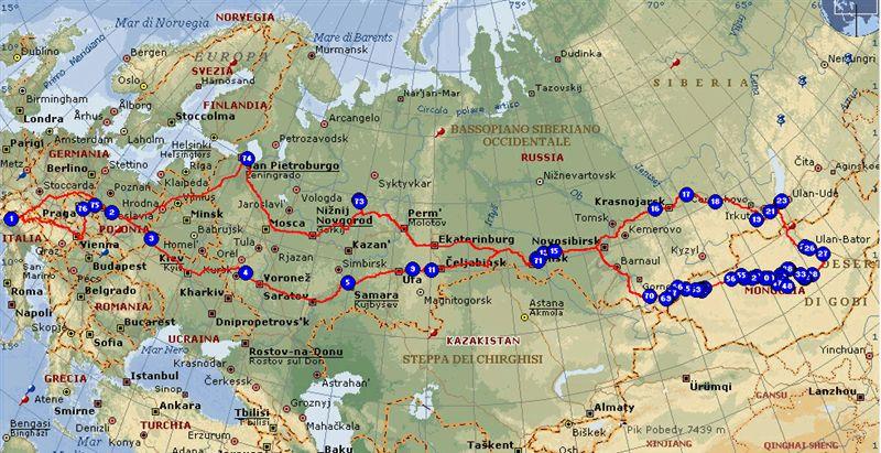 Cartina Russia Siberia.Mongolia 2005 Dall Italia Via Europa E Siberia A R Di Danilo Baggini