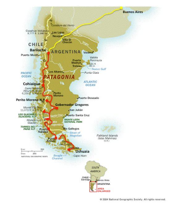 Patagonia Cartina Geografica.Patagonia Da Buenos Aires A Ushuaia Via Terra Di Gaetano Passigato
