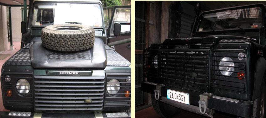 Land rover defender supporto ruota di scorta portellone posteriore
